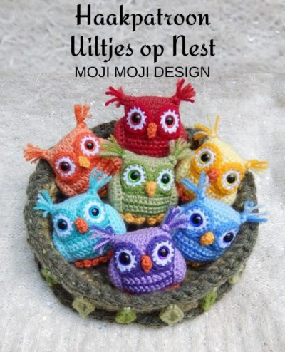 Haakpatroon Uiltjes op Nest