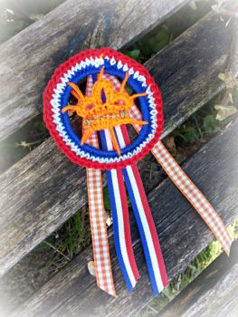Patroon Koningsdag Broche