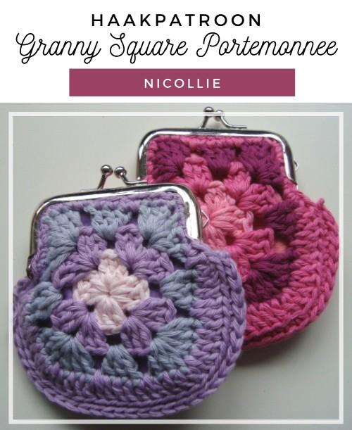 Haakpatroon Granny Square Portemonnee