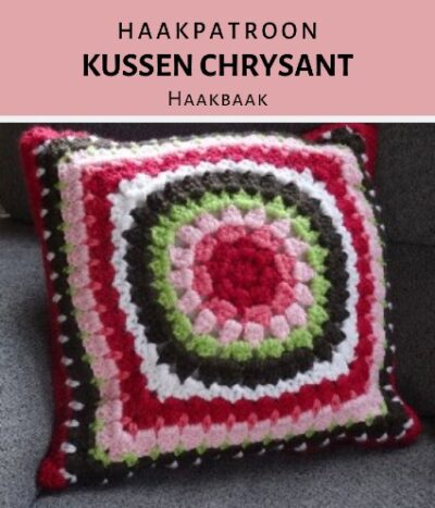 Haakpatroon Kussen Chrysant
