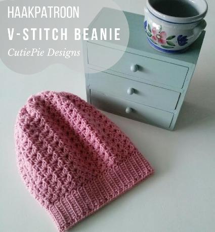 Haakpatroon V-Stitch Beanie Haken
