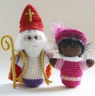 Haakpatroon Sinterklaas en Piet
