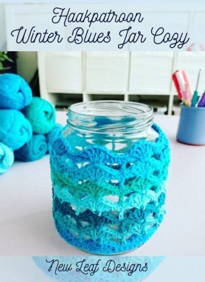Haakpatroon Winter Blues Jar Cozy