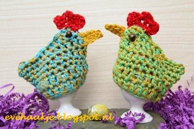 haakpatroon paaskip eierwarmer