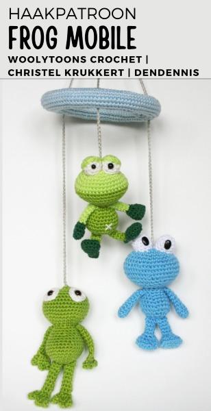 Haakpatroon Frog Mobile haken