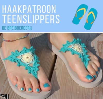 Haakpatroon Teenslippers haken