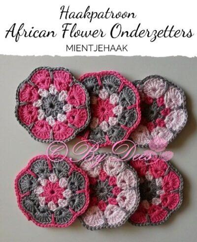 Haakpatroon African Flower Onderzetters