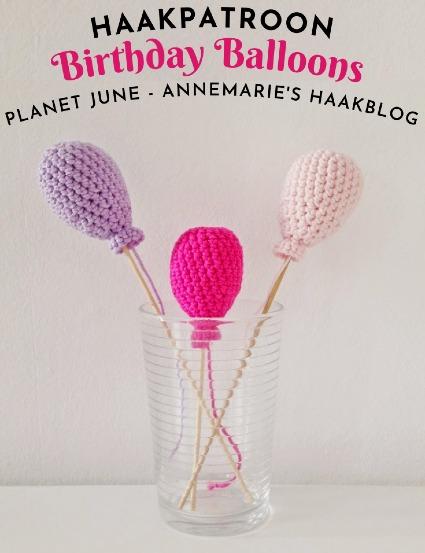 Haakpatroon Birthday Balloons