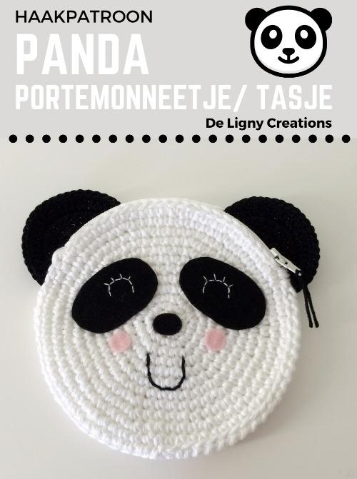 Haakpatroon Panda Portemonneetje Tasje