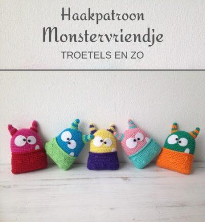 Haakpatroon Monstervriendje Haken