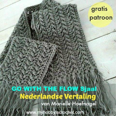 Wonderbaar Haakinformatie | Haakpatroon Go with The Flow Sjaal • Haakinformatie ZP-75