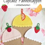 Haakpatroon Cupcake Pannenlap