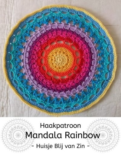 Haakpatroon Mandala Rainbow