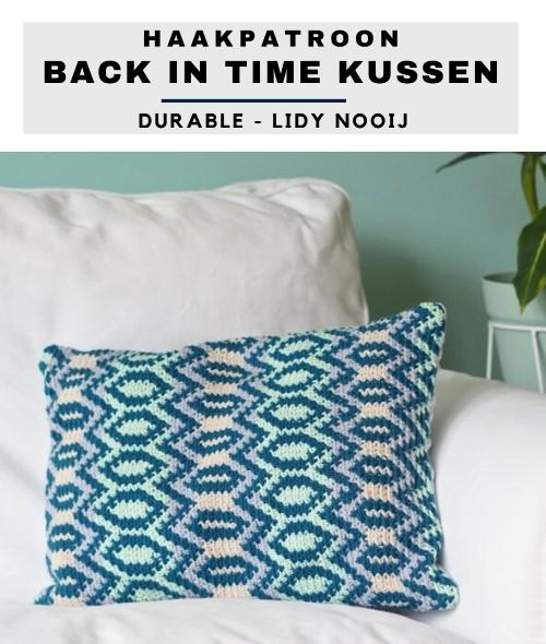 Haakpatroon Back in Time Kussen haken