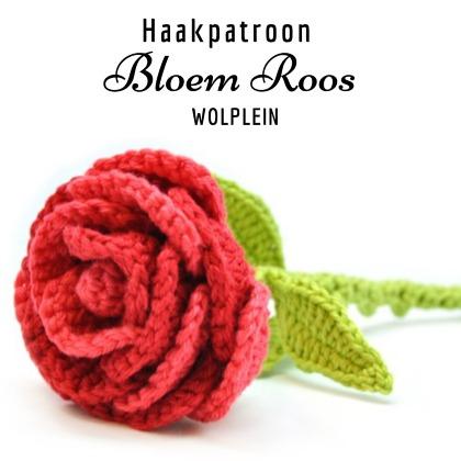 Haakpatroon Bloem Roos Haken