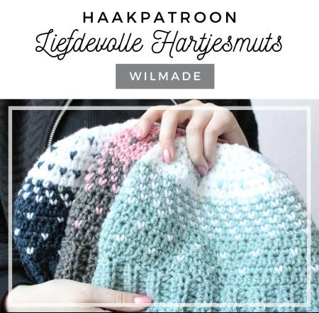 Haakpatroon Liefdevolle hartjesmuts haken