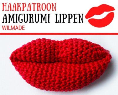 Haakpatroon Amigurumi Lippen