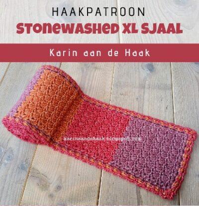 Haakpatroon Stonewashed XL Sjaal