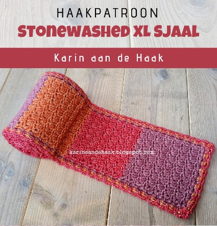 Haakpatroon Stonewashed XL Sjaal