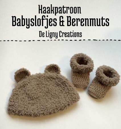 Haakpatroon Babyslofjes en Berenmuts haken