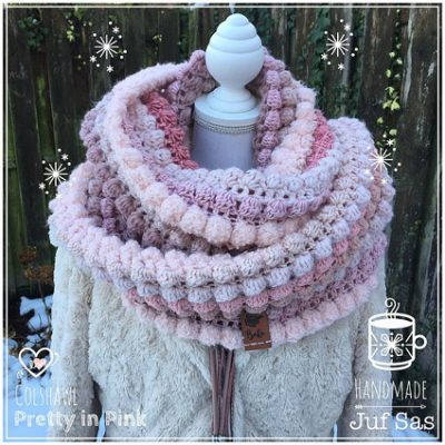 Haakpatroon Colshawl Pretty in Pink