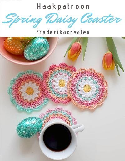 Haakpatroon Spring Daisy Coaster
