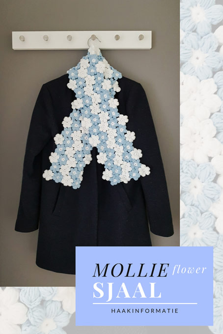 Haakpatroon Mollie Flower Sjaal