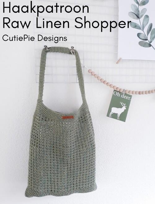 Haakpatroon Raw Linen Shopper