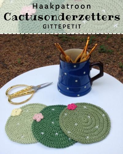 Haakpatroon Cactusonderzetters haken