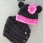 Haakpatroon Minnie Mouse Sjaal en Muts