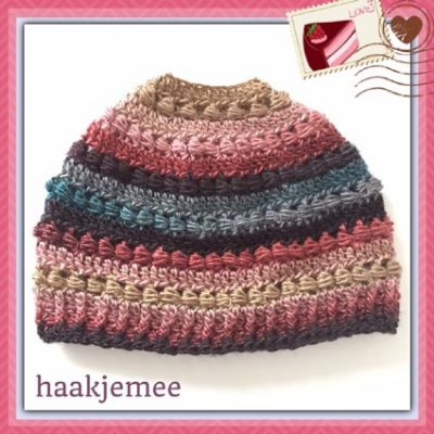 Haakpatroon Pearly Bun Beanie