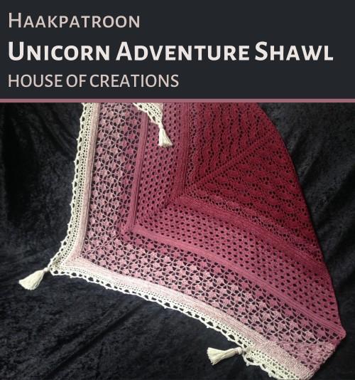 Haakpatroon Unicorn Adventure Shawl Haken