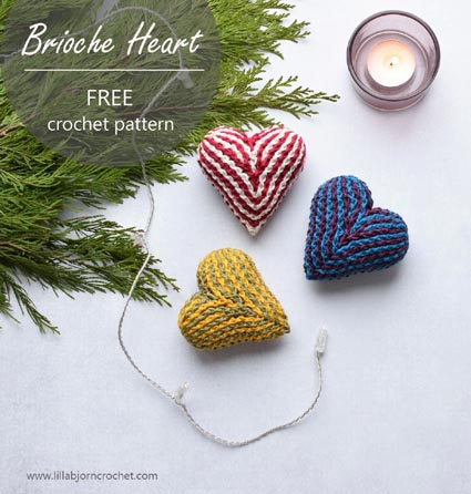 Haakpatroon Brioche Heart