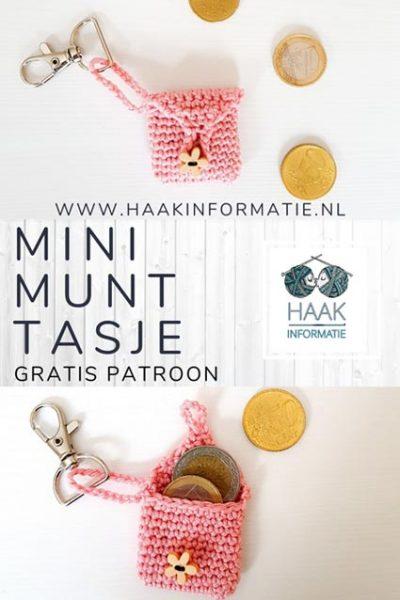 Haakpatroon Mini Munt Tasje