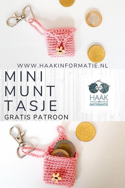 Haakinformatie Haakpatroon Mini Munt Tasje Haakinformatie