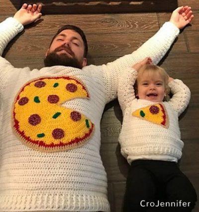 Haakpatroon Pizza voor 2 trui