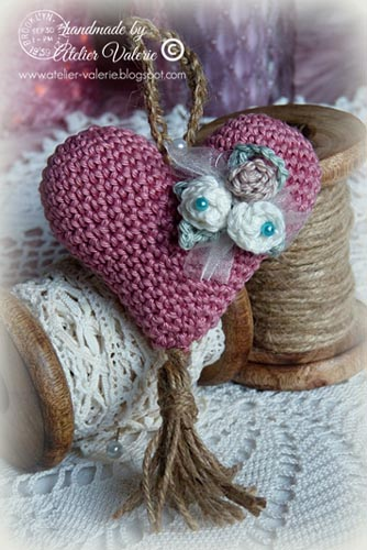 Haakpatroon Puffy Heart