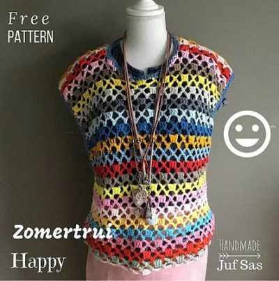 Haakpatroon Zomertrui Happy
