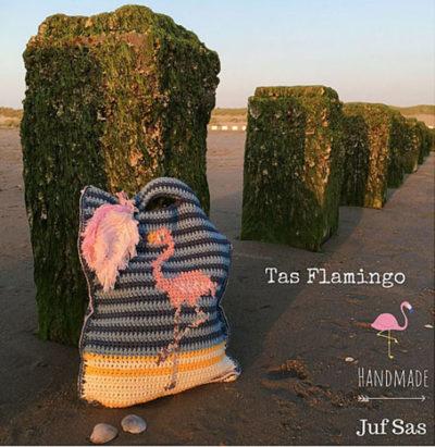 Haakpatroon Flamingo Tas