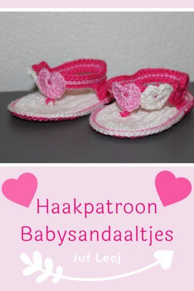 Haakpatroon Babysandalen