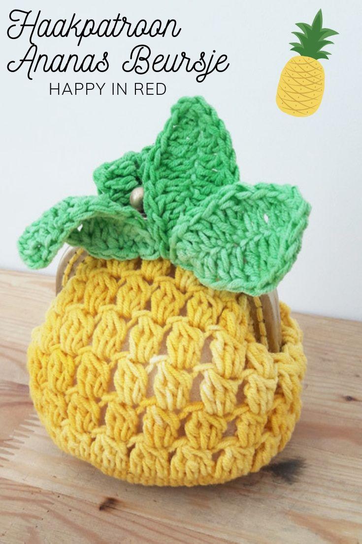 Haakpatroon Ananas Beursje