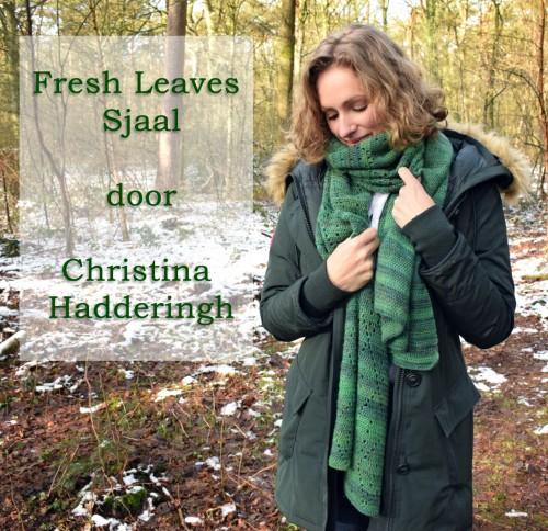Haakpatroon Fresh Leaves Sjaal