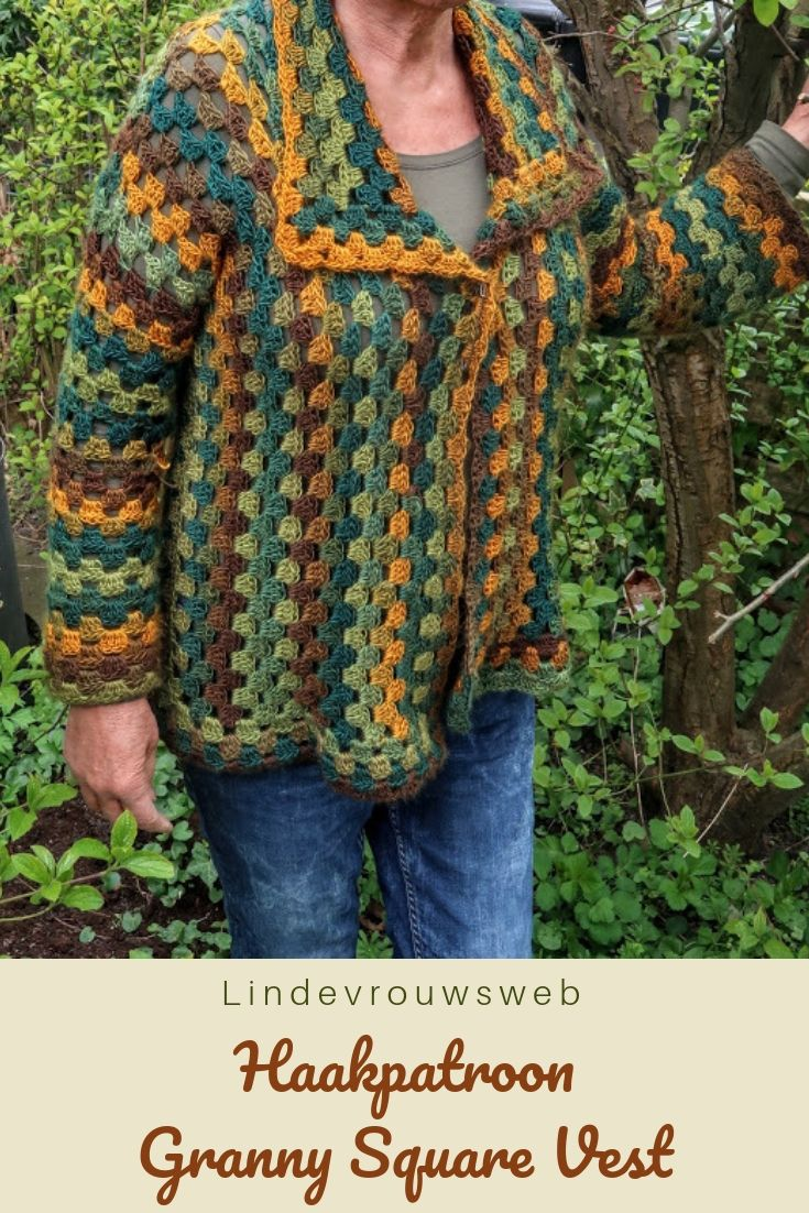 Haakpatroon Granny Square Vest