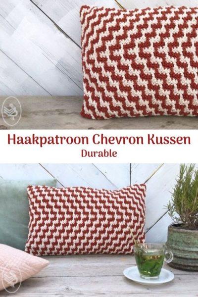 Haakpatroon Chevron Kussen