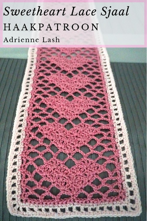Haakpatroon Sweetheart Lace Sjaal