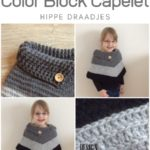 Haakpatroon Color Block Capelet