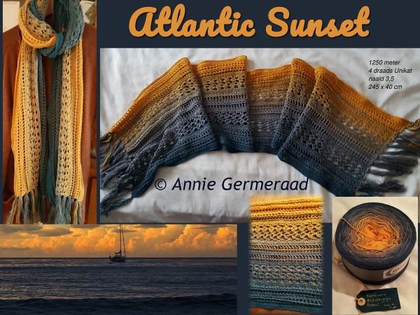 Haakpatroon Atlantic Sunset Sjaal