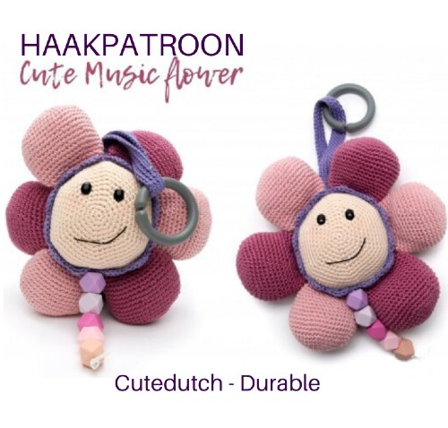 Haakpatroon Cute Music Flower