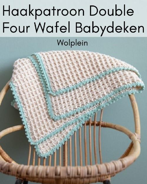 Haakpatroon Double Four Wafel Babydeken