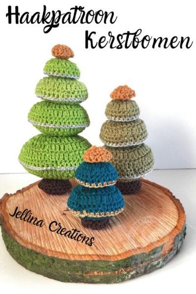 Haakpatroon Kerstbomen